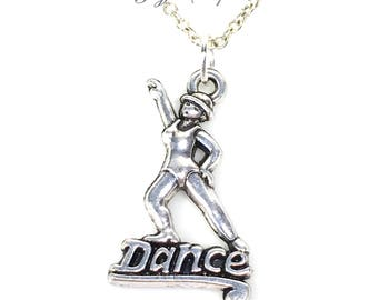 Tap Dance Necklace, Dancer's Jewelry, Street Tap Stepdance Gift for Jazz Step Dancer Gift Pewter pendant ballroom salsa rumba instructor him