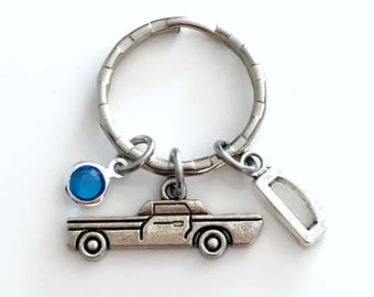 Classic Car Keychain, Silver Automobile Key Chain, Auto Gift for Men Collectors Jewelry Keyring Crazy man Personalized Him her dad uncle son