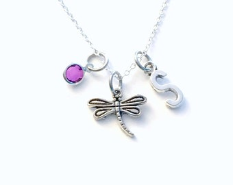 Dragonfly Necklace, Silver Dragon Fly Jewelry, Dragonflies Charm, Gifts for Gardeners, Secret sister Necklace, Girls Jewelry Pewter Pendant