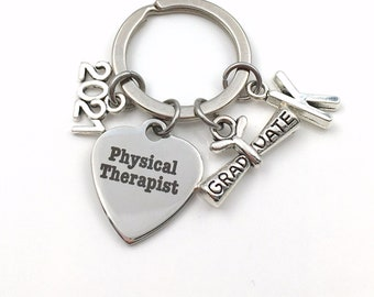 2021 Physical Therapist Graduation Gift / PT Keychain for Grad Student / PT Key Chain Keyring / Physical Therapy Graduate Present / her him