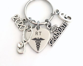 Respiratory Therapist Graduation Gift, 2020 RT Keychain Gift for Therapy Student Grad Key Chain Keyring Graduate Man men women him her 2021