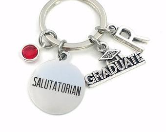 Graduation Gift for Salutatorian Keychain / Grad Mortarboard key chain / Graduate Keyring / for him her women men / College University son