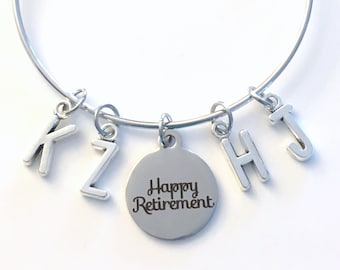 Retirement Gift from Family Jewelry, Grandmother Charm Bracelet from 2 3 4 5 6 7 8 9 10 letters initial grandchildren grandkids mom group