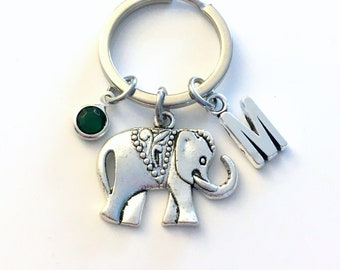 Elephant Keychain / Elephant Key Chain / Zoo Animal Keyring / Strength and Friendship Gift for Best Friend / Circus Themed Birthday Present