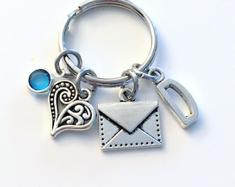 Love Letter Keychain, Gift for Mail Delivery Person Key Chain, Mailman Mail Woman her Postal Present women men mailwoman man letter carrier