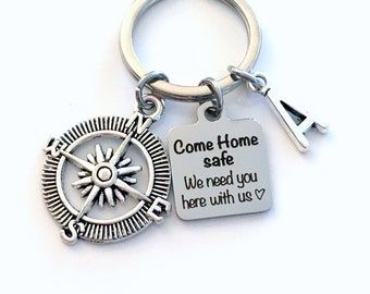 Come home safe, we need you here with us Keychain, Military Key Chain, First Responder Keyring, Gift for Husband Wife Keyring, Boyfriend dad