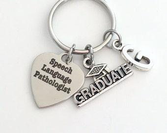 Speech Language Pathologist Graduation Gift / 2021 SLP Grad Key Chain / Speech Therapy Keychain / Speech Therapist Grad Keyring Present