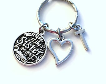 Sister in Law Gift, Best Friends Keychain, Like a Sister to me Heart Key chain, Step BFF Keyring, for Sister-in-Law gift, Cousin silver her