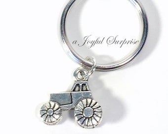 Tractor Key Chain, Auto Keychain, Tractor Keyring, Gift for Farmers wife husband, tractor lover's present Farm Vehicle Boy Men Man Male her