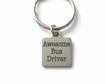 Christmas Gift for Bus Driver Keychain, Thank you Present for School Bus Guard Key Chain, Canadian Seller Shop, Made in PEI Canada men women