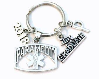 Paramedic Graduation KeyChain,  2018 EMT Grad Keyring, Gift for Paramedic Key Chain Medical present Seller in PEI Canada 2019 2020 him her