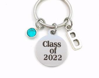 Class of 2022 Key Chain, or 2023 2024 2025, Grad KeyChain, Gift for Graduate Present, Graduation Keyring, High School College University
