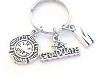 Graduation Gift for Him, Firefighter Keychain, Fireman's Key Chain , Fire Emblem Maltese Cross Keyring Fire woman Department 95