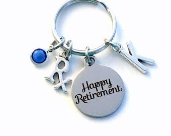 Pharmacist Retirement Gift Keychain, Rx Present for Pharmacy Technician Key Chain, Pharm Researcher, pharmaceutical salesperson with letter