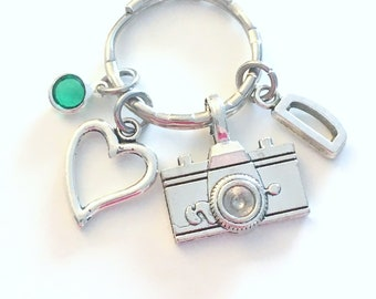 Thank you Gift for Wedding Photographer Key Chain, Camera Keychain, Photography Keyring, Graphic Artist Present, Media women men journalist