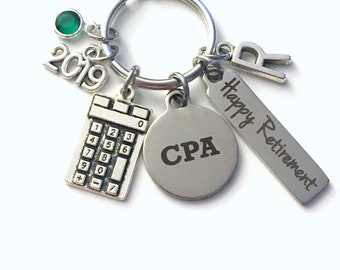 CPA Retirement Present, 2019 Accountant Keychain Gift for Chartered Professional Accounting Retire, Key Chain him her women Calculator 2020