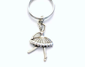 Ballet Keychain, Ballerina Key chain, Dance Keyring, Gift for Ballet Dancer, Purse planner charm birthday party favor little girl her teen
