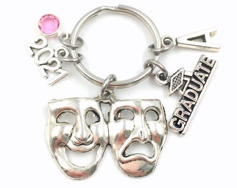 2021 Musical Theater Keychain / Graduation Gift for Drama student / College of Performing Arts Graduate Present / 2021 Mask Key Chain Grad