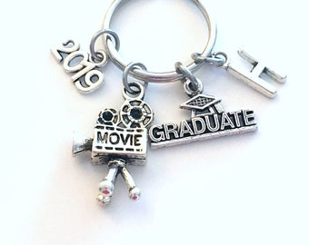 Film School Student Graduation Gift 2019 Photographer KeyChain Camera Key chain Media Keyring initial Visual Arts him her Photography 2019