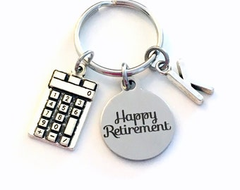Retirement Gift for Business Man Woman Keychain / 2021 Accountant CPA Key chain / Happy Retirement Keyring / Bookkeeper present / teacher
