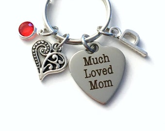 Gift for Mother Keychain / Much Loved Mom Key Chain / From Daughter or Son / Mother's Day Present / Wedding or Birthday Gift for Mommy Mom
