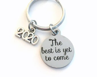 Retirement Keychain for Men or Women, Him or Her 2020 The best is yet to come Present Coworker Key chain Gift for Boss Keyring Mom Dad 2021