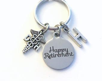 Retirement Gift for DH Keychain / Dental Hygienist Assistant Key chain / Caudecus  Keyring / Happy Retirement Retire Coworker Dentist