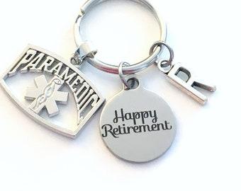 Retirement Gift for Paramedic Keychain / 2021 Medical EMT Key Chain / Happy Retirement Ambulance Driver Present / Coworker Boss Keyring