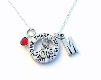 Adoption Necklace, 2019 Wizard of Oz Jewelry, Silver Oz Circle Charm, Gift for daughter birthstone Gotcha Day New There's No Place Like Home
