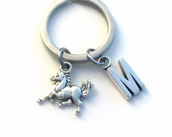 Horse Key Chain, Pony KeyChain, Horse Lover Keyring, Equestrian Silver Jewelry, Gift for Son Daughter Present, Jockey Animal Stable Owner