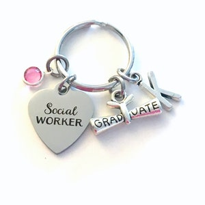Awesome Mid Wife Key Chain Keyring Jewelry Initial Birthstone present women men him her stethoscope nurse doula Gift for Midwife Keychain
