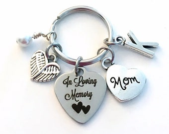 Loss of Mom Keychain, In Loving Memory Key Chain, Memorial Gift, Remembrance Present, Family Member Tribute to Loved One, Bereavement for