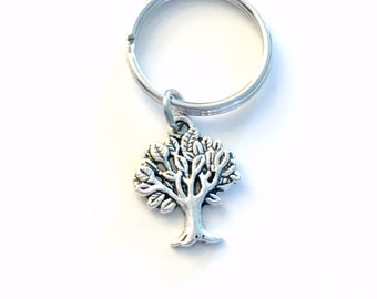 Tree Key Chain, Tree of Life KeyChain, Nature Gift for Forestry Worker Present Environmentalist Purse Charm Planner Canada Seller her him