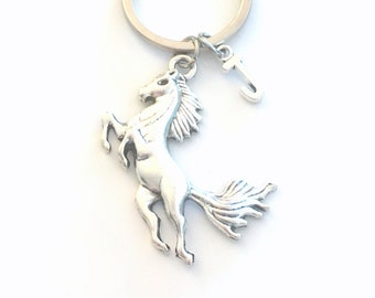 Large Horse Key Chain / Pony Keychain / Gift for Stallion Jockey or Equestrian rider Keyring