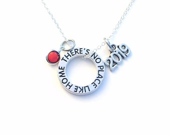 There's no place like home Necklace, 2019 Wizard of Oz Jewelry, Wicked Adoption Gotcha Musical Theater Gift birthstone New house birthday