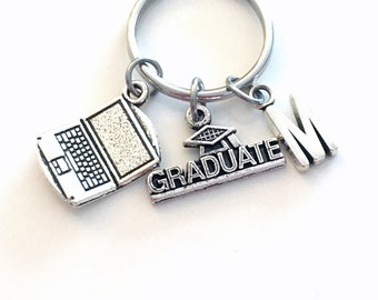 Computer Science Graduation Keychain, 2020 Gift for Software Engineer Student Grad Laptop Key Chain Keyring Initial man men women charm 2021