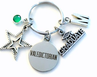 Valedictorian Gift / Graduation Keychain/ Graduate Key Chain/ Star Student present / her him men women