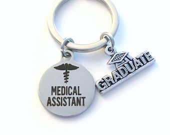 Graduation Gift for Medical Assistant Keychain / 2021 MA Key Chain / Grad Present Keyring / Graduate Gift for MA women her him