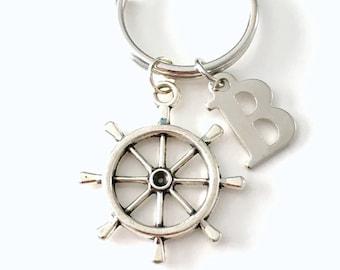 Helm Keychain, Ship Wheel Keyring, Shipwheel Key Chain,  Marine Gift for Men, Father's Day Present, Nautical for dad, Fisherman Fisherwoman