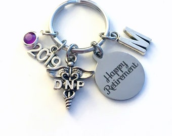 Retirement Gift for DNP Keychain, 2019 Doctor of Nursing Practice Key Chain, Practitioner Keyring Practical Initial letter birthstone woman