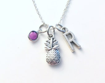 Pineapple Necklace, TTC Jewelry, Personalized Pine apple Keyring, Fruit Food Gift
