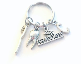 Dentist Graduation Gift, 2020 Dental Hygienist Keychain, Gift for Student Grad, Surgeon Orthodontist Key Chain Keyring Graduate CDA DA 2021