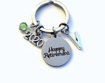 Retirement Gifts for Women Keychain, 2020 Retire Key chain for Him Her, Happy Present Coworker Boss Keyring teacher best friend woman men