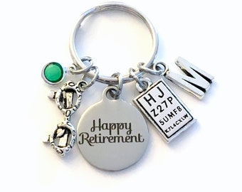 Retirement Gift for Optometrist Keychain, Optometry Ophthalmologist Key Chain Keyring for her him men letter initial him Glasses Eye chart