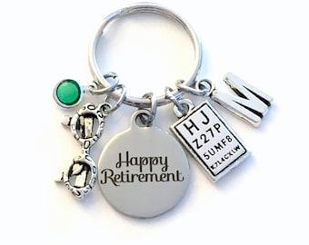 Retirement Gift for Optometrist Keychain, Optometry Ophthalmologist Key Chain Keyring for her him men letter initial him Glasses Eye chart