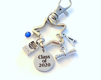 Graduation Gifts for Preschool Kids Keychain / Class of 2020 Key Chain / Grad Present for Kindergarten or Elementary Keyring / Backpack pull