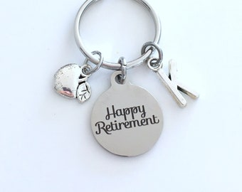 Retirement Gift for Dietitian Keychain, 2020 Principal Teach, Nutritionist Apple Key chain Keyring Retire Coworker Initial letter teacher