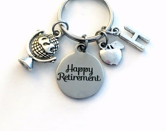 Retirement Gift for Social Studies Teacher Keychain / 2021 or other years / Globe Apple Keyring / World Religions Key chain / Global Present