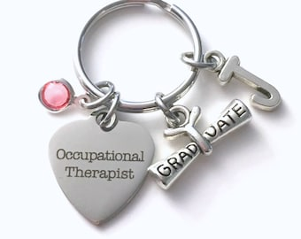 Occupational Therapist KeyChain / Gift for OT Therapy Graduation Present / Graduation Key Chain /  Grad Keyring / Jewelry Graduate present