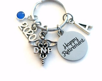 Retirement Gift for DNP Keychain, 2020 Doctor of Nursing Practice Key Chain, Practitioner Keyring Practical Initial letter birthstone woman
